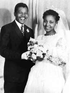 Nelson and Winnie on their wedding day